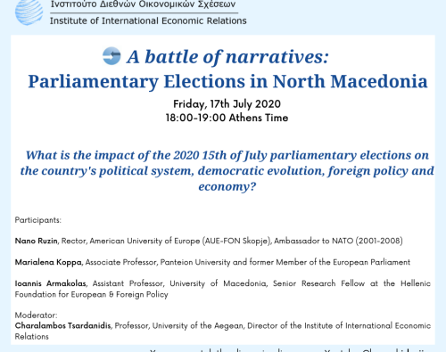 A battle of narratives: Parliamentary Elections in North Macedonia