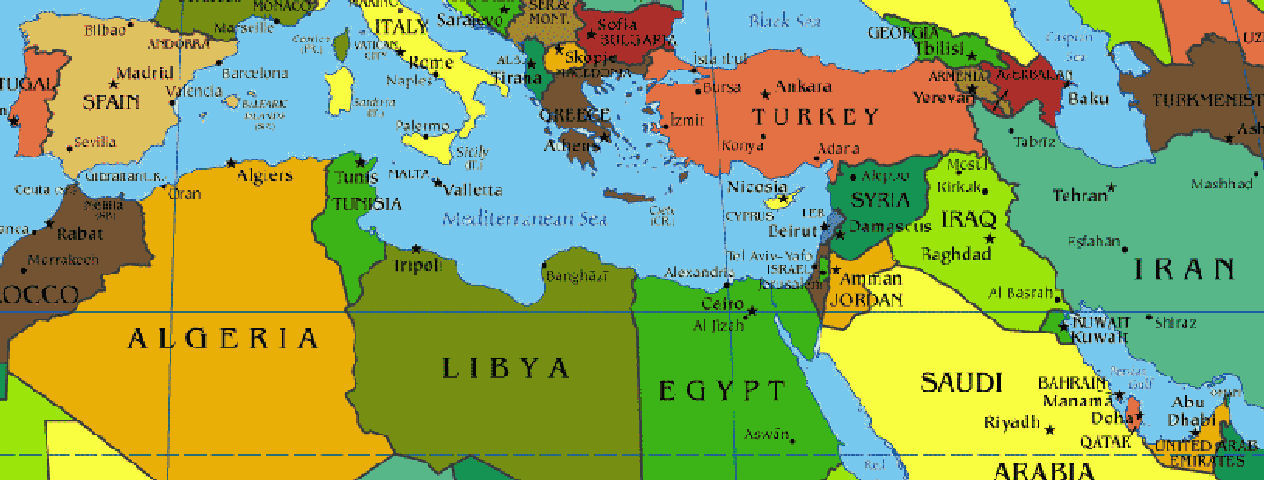 Tehran Middle East Map.Mediterranean And Middle East Map Add Photo Gallery With